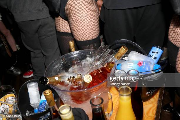 Branson Cognac VSOP is served during Barry Mullineaux's birthday party hosted by 50 Cent on January 14, 2021 in Miami, Florida.