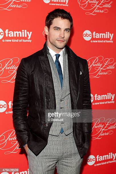 Brant Daugherty attends the 'Pretty Little Liars' season finale screening at Ziegfeld Theater on March 18 2014 in New York City