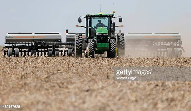 Brant Peterson plants sorghum on his farm in Stanton County Kan Peterson says he's noticed that the Ogallala aquifer from which he draws to irrigate...