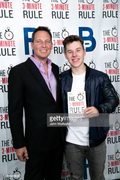 Brant Pinvidic and Nolan Gould attend red carpet event featuring business influencers celebrities and leading network executives gather to celebrate...