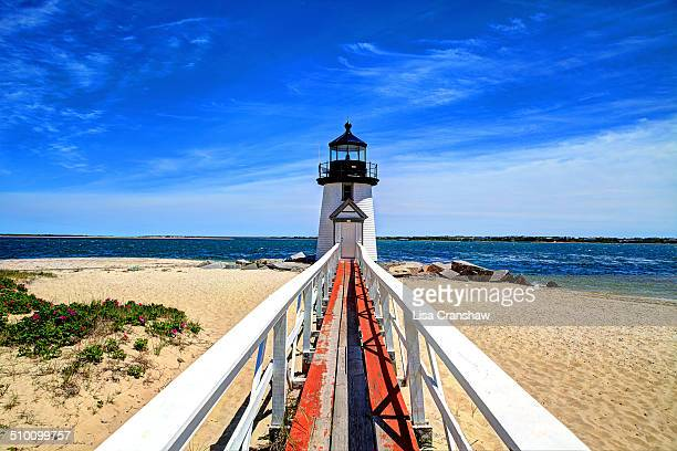 brant point lighthouse - lisa cranshaw stock pictures, royalty-free photos & images