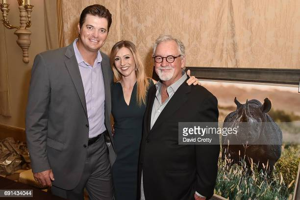 Brant Rustich Erica Rustich and Thomas D Mangelsen attend the Elephant Action League Los Angeles Benefit Auction at The Montage on June 1 2017 in...
