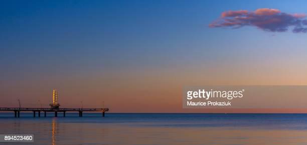 Brant Street Pier at sunset