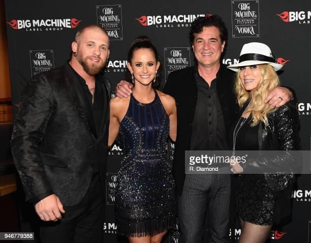 Brantley Gilbert Amber Gilbert Big Machine Records CEO Scott Borchetta and Sandi Borchetta attend the 53rd Annual ACM Awards celebration with Big...