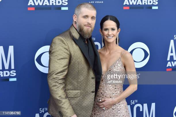 Brantley Gilbert and Amber Cochran attend the 54th Academy Of Country Music Awards at MGM Grand Hotel Casino on April 07 2019 in Las Vegas Nevada
