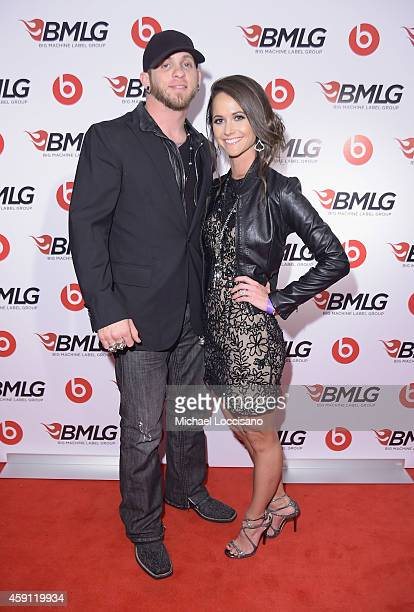 Brantley Gilbert and Amber Cochran attend the Big Machine Label Group Celebrates The 48th Annual CMA Awards in Nashville on November 5 2014 in...