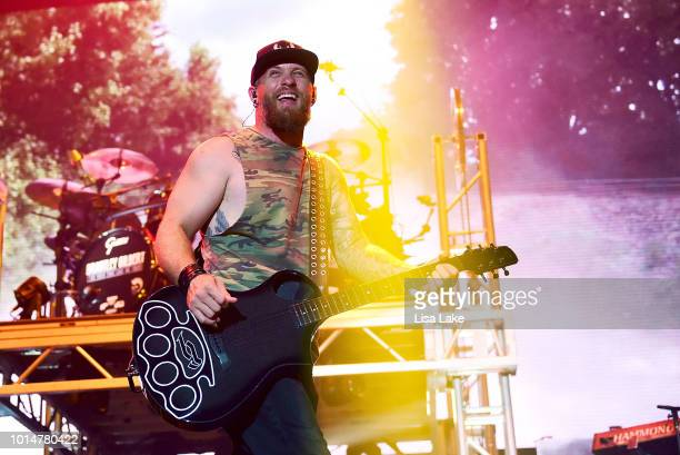 Brantley Gilbert perfoms during Musikfest at Sands Steel Stage at PNC Plaza on August 10 2018 in Bethlehem Pennsylvania