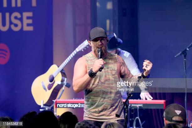 Brantley Gilbert performs onstage at Spotify House during CMA Fest at Ole Red on June 07 2019 in Nashville Tennessee