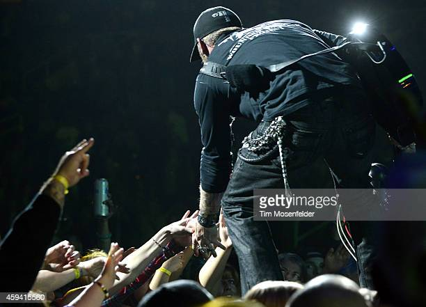 "Brantley Gilbert performs part of his ""Let It Ride"" tour at SAP Center on November 21, 2014 in San Jose, California."