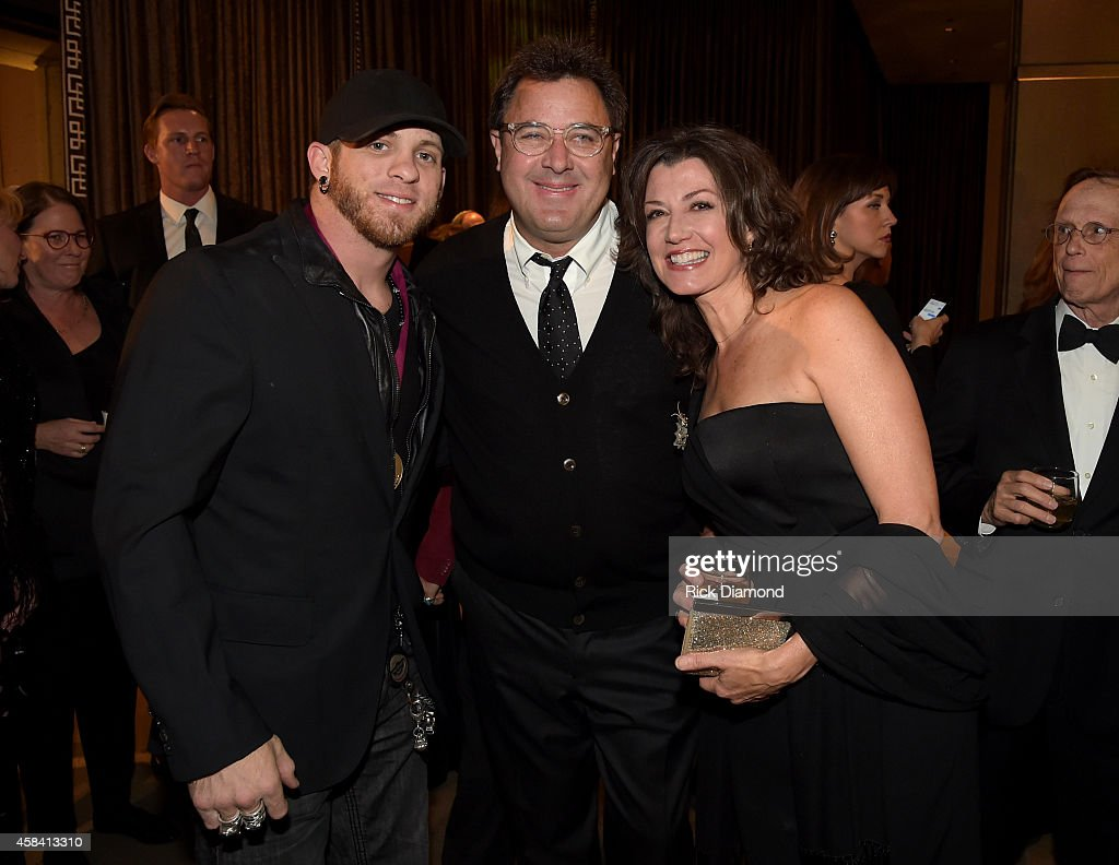 Brantley Gilbert, Vince Gill, and Amy Grant attend the BMI 2014 Country Awards at BMI on November 4, 2014 in Nashville, Tennessee.