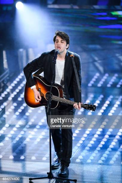 Braschi attends the second night of the 67th Sanremo Festival 2017 at Teatro Ariston on February 8 2017 in Sanremo Italy