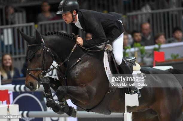 Brash Scott of England riding Hello Mr President during the Longines FEI Jumping World Cup Verona 2018 CSI5*W on October 28 2018 in Verona Italy