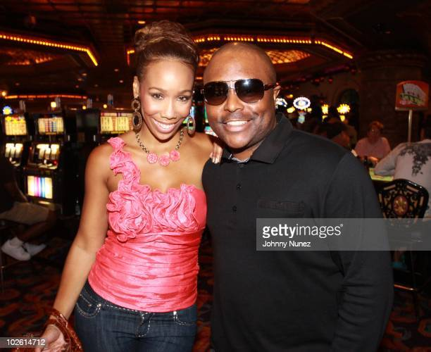 Brasie Patterson and Alex Thomas attend the Tom Joyner Foundation party at Harrah's Casino on July 3 2010 in New Orleans Louisiana