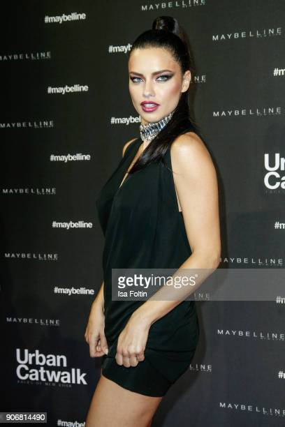 Brasil model Adriana Lima during the Maybelline Show 'Urban Catwalk Faces of New York' at Vollgutlager on January 18 2018 in Berlin Germany