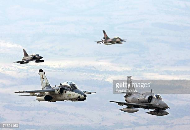An AMX1 from Brazil's Air Force an A4 Sky Hawk from Argentina's Air Force a Mirage 2000 from France's Air Force and an F16 from Venezuela's Air Force...