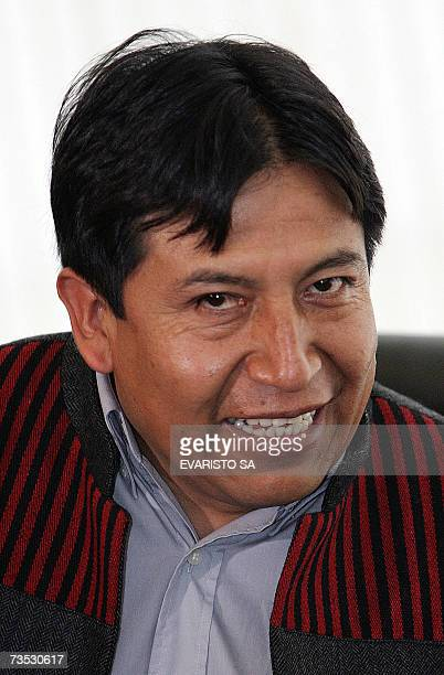 El canciller boliviano David Choquehuanca hablad durante una reunion en el Palacio Itamaraty en Brasilia, el 18 de diciembre de 2006. Choquehuanca se...