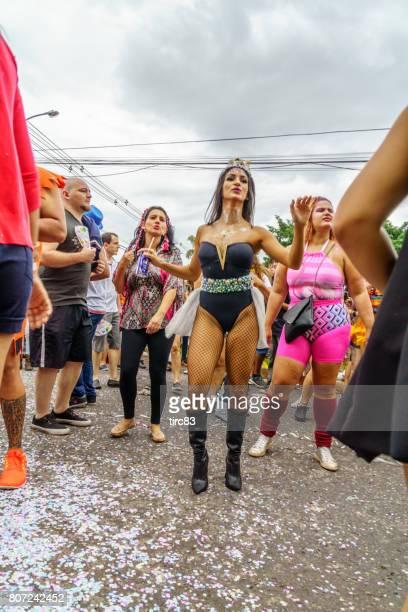 brasilia carnival goers - brasilia stock pictures, royalty-free photos & images