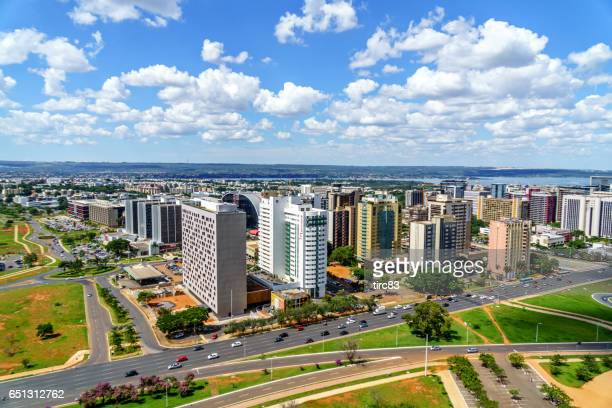 brasilia cityscape - distrito federal brasilia stock pictures, royalty-free photos & images