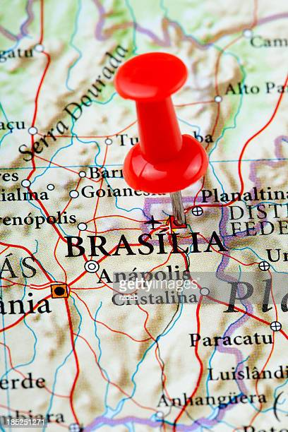 brasilia map - south america - distrito federal brasilia stock pictures, royalty-free photos & images