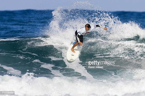 Brasilian Andre Silva finished equal fifth competes during the Rip Curl Pro Surf Music Festival August 27 2006 in Hossegor France