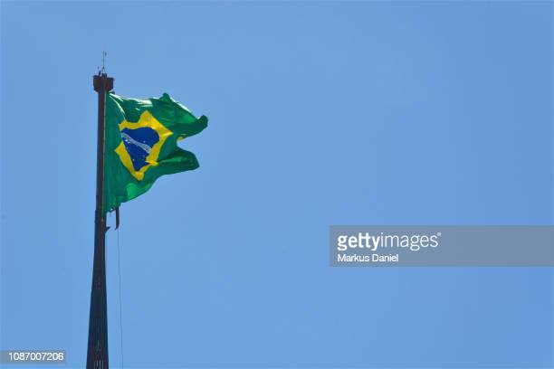Brasilian Flag on Three Powers Plaza (Praça dos Três Poderes)