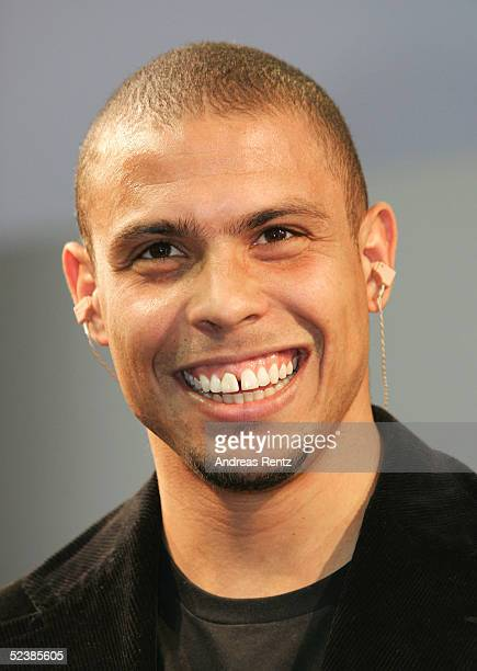 Brasilian football player Ronaldo attends the CeBIT technology trade fair March 14 2005 in Hanover Germany CeBIT the biggest technology trade fair in...