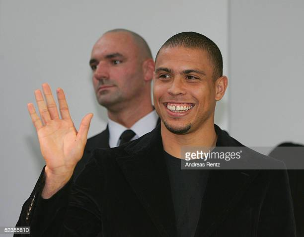 Brasilian football player, Ronaldo, attends the CeBIT technology trade fair March 14, 2005 in Hanover, Germany. CeBIT, the biggest technology trade...