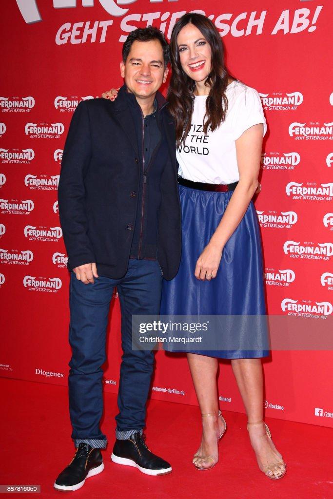 Brasilien director Carlos Saldanha and German Actress Bettina Zimmwermann attend the premiere of 'Ferdinand - Geht STIERisch ab!' at Zoo Palast on December 7, 2017 in Berlin, Germany.