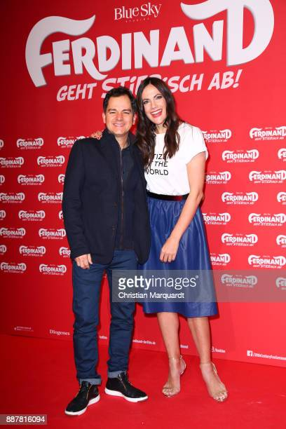 Brasilien director Carlos Saldanha and German Actress Bettina Zimmwermann attend the premiere of 'Ferdinand Geht STIERisch ab' at Zoo Palast on...