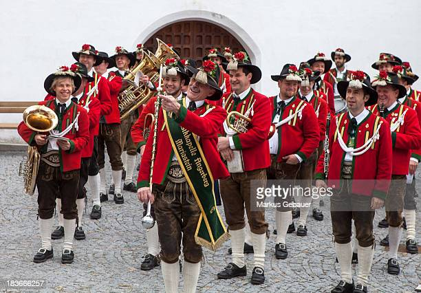 CONTENT] Brass band during a wedding ceremony in Tirol Austria