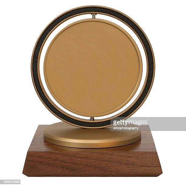 brass corporate trophy - bronze medalist stock pictures, royalty-free photos & images