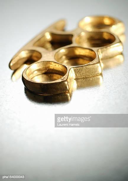 Brass knuckles, close-up.