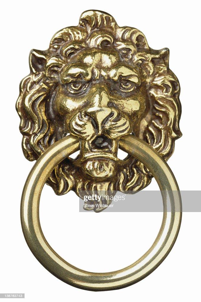 A Br Lions Head Door Knocker High