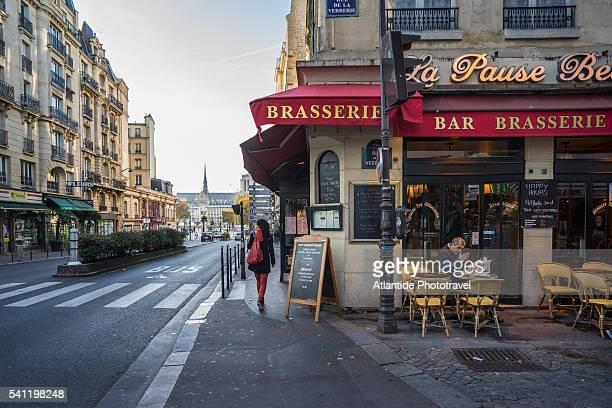 brasserie at rue de la verrerie, near hotel da le ville - brasserie stock pictures, royalty-free photos & images