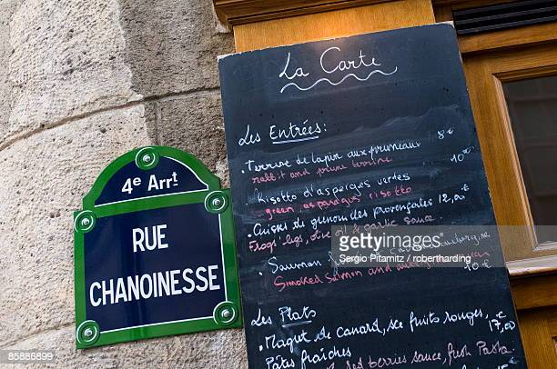 Brasserie au Bougnat, Rue Chanoinesse, Ile de la Cite, Paris, France, Europe
