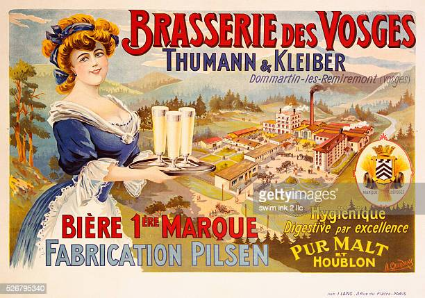 Brasserie des Vosges Poster by A Quendray
