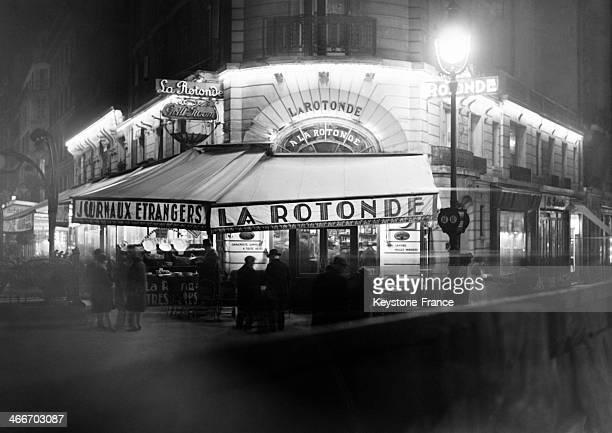 Brasserie La Rotonde in November 1929 in Paris France