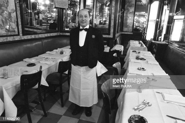 Brasserie Lipp In Paris France In April 1980