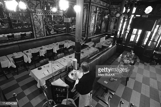Brasserie Lipp In Paris France In April 1980The Brasserie LIPP is also classed as an historical monument for its' turn of the century decor The...