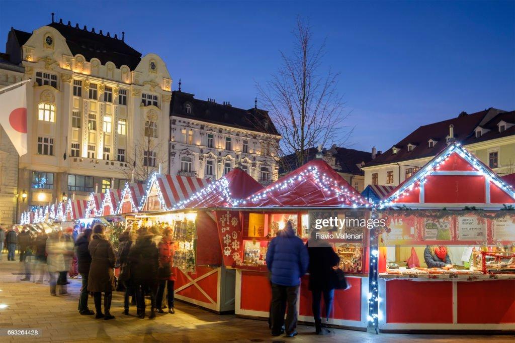 Christmas Bratislava.Bratislava At Christmas The Hlavne Namestie Slovakia High