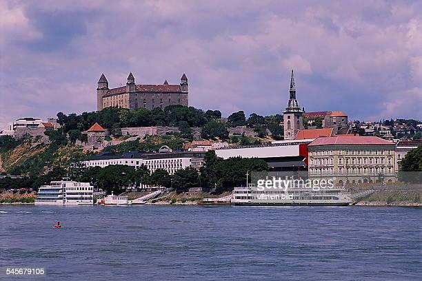 Blick über die Donau auf die Burg 1993