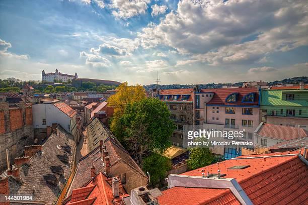 bratislava castle - bratislava stock pictures, royalty-free photos & images