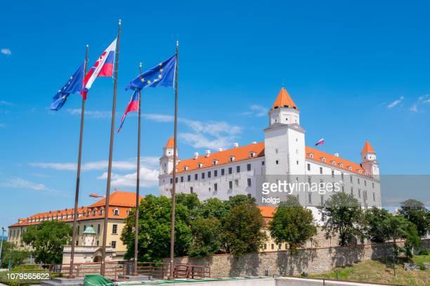 bratislava castle, slovakia, europe - bratislava stock pictures, royalty-free photos & images