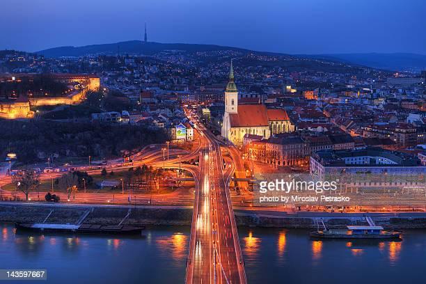 bratislava city center - eslováquia imagens e fotografias de stock