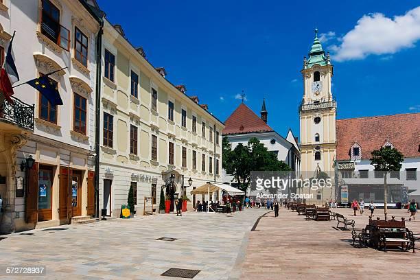 Bratislava main square and town hall, Slovakia
