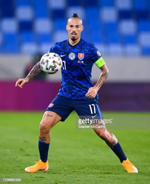 Bratislava , Slovakia - 8 October 2020; Marek Hamsik of Slovakia during the UEFA EURO2020 Qualifying Play-Off Semi-Final match between Slovakia and...