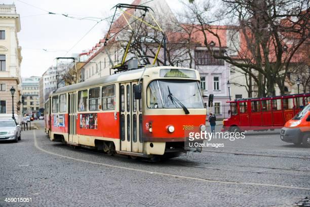 bratislava, slovakia - old tram - bratislava stock pictures, royalty-free photos & images