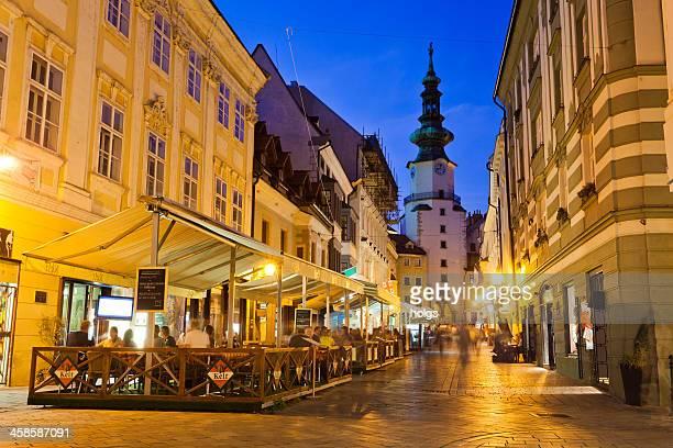 Bratislava, Slovakia Streetside cafes