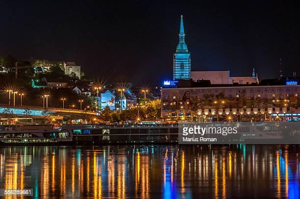 Bratislava view over the river Danube, Slovakia.