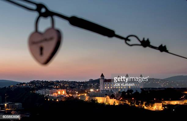 Bratislava's castle is seen on the eve of the EU Informal Meeting of the 27 Heads of State in Bratislava on September 15 2016 The 27 EU leaders meet...